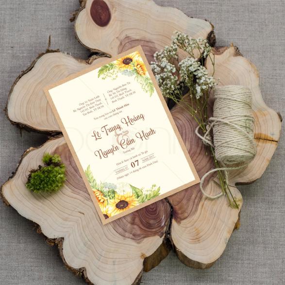 Thiệp vẽ hoa